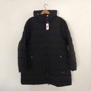 In Every Story Black Puffer Coat Size 1X